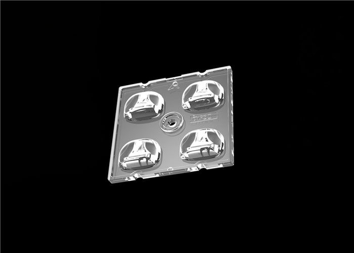 Type II-M 2 Vehicle Lanes LED Light Lens , Square Shaped LED Optics Lenses Module